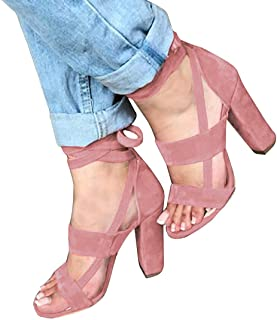57db8aa25fddd Amazon.com: chunky summer sandals - Pink / Shoes / Women: Clothing ...