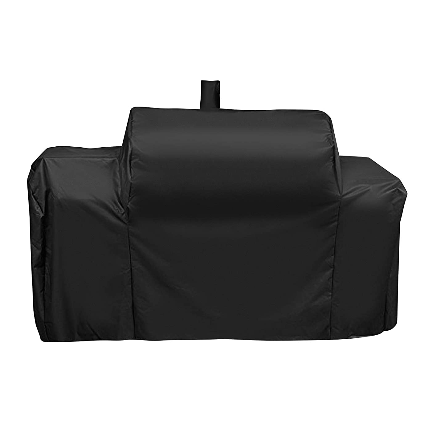 SunPatio Outdoor Heavy Duty Waterproof Grill Cover 74 Inch for Oklahoma Joe's Longhorn Combo Grill and More Triple-Function Combination Gas/Charcoal/Smoker Grill, All Weather Protection, Black