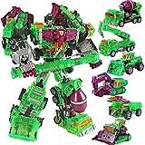 Transfórmers Tóys, 5 in 1 Devastator Transformation Movie Toys Boy Big Size 45cm Robot Ko G1 Action Figure Model Bambino Giocattolo per i Regali per Le Vacanze per Bambini (Color : E)