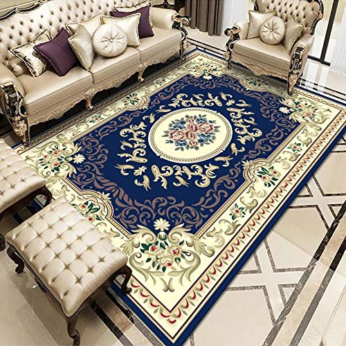 Oukeep European-Style Printed Rectangular Rug, Large Area Blankets In The Living Room, Sofa and Bedroom, Thick Non-Slip Coffee Table, Bedside Mat