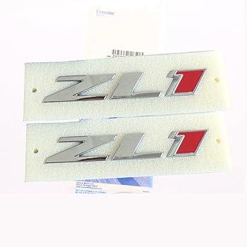Aimoll ZL1 Camaro Emblem 3D Badge Letter Rear Side 2pcs Chrome
