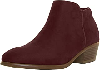 Wild Diva Womens Almond Closed Toe Med Low Heel Western Cowboy Ankle Booties Boots