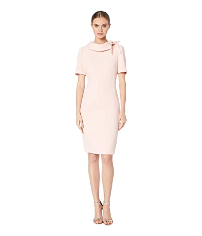 Badgley Mischka Tie Neck Dress (Rosette) Women