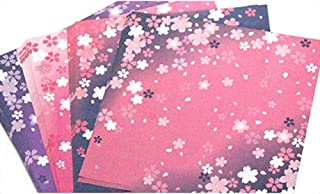 wangten 色の折り紙 桜折り紙 さくらパタン ペーパーアート DIY手作り 千羽鶴用 折鶴 60枚セット お祭り お誕生日 新年
