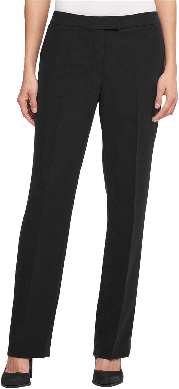 DKNY Womens Bootcut Casual Trouser Pants, Black, 18