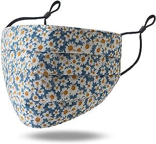 5pcs Covermason Blumen Motiv Mund Nasen Schutz mit Ventil Waschbar Wiederverwendbar Stoff Schutzmake Gesichtsmake