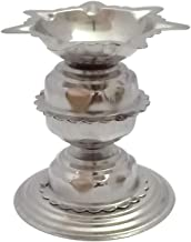 Stainless Steel Diyas for Pooja - Deepak for Puja Aarti - Oil Lamp - Pooja Articles Home Decor Item Showpieces - House War...