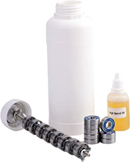 XiKe Skateboard Bearings Cleaning Kit, Contain Bearings Cleaning Unit, 608-RS Bearings and High-Speed lubricating Oil