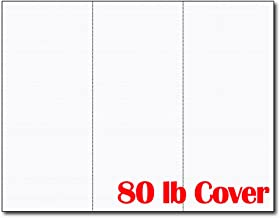 3up 80lb White Linen Textured Menu Cards/Connection Cards/Rack Cards (25 Sheets / 75 Pieces)