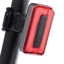 مجموعة ضوء دراجة LED قابلة للشحن، مصابيح إضاءة خلفية مستقرة ذكية تعمل بالاهتزاز أثناء ركوب الدراجة الجبلية COB إضاءة إضاءة...