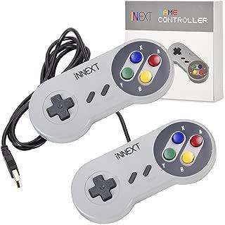 iNNEXT® 2x Classic USB Gamepad Retro Controlador USB de juegos SNES para Windows, PC, Mac y Raspberry Pi System