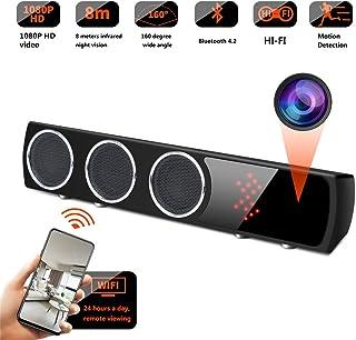 Balscw-J WiFi cámara Oculta Altavoz inalámbrico HiFi-IR visión Nocturna cámara espía bajo Altavoz Mejorado 4K HD videocáma...