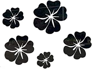 Flower Background Wall Stickers TV Wall Stickers Mirror Three-Dimensional Decorative Home Black 300x300