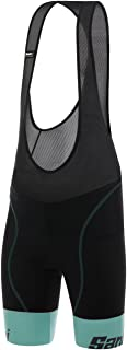 Santini Women's Wave Bib Shorts, Acqua Blue, XX-Large
