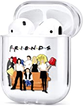 Protective Case for Apple Airpods Series 1 2 Clear Plastic Shell Cover Trendy Cute Summer Design Fresh Funny Waterproof Charging Case (Friends TV Show)