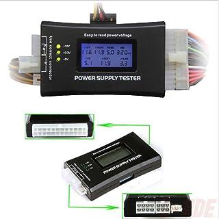 Perfk ATX Power Supply PSU Tester With 20/24 Pin, SATA & HDD Connectors