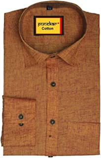 Punekar Cotton Formal Shirts for Mens (Golden, 38)