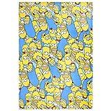 sarcia.eu Gelb-blaue Decke 120x150 Die Simpsons