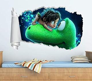 jincheng Wall Sticker The Good Dinosaur 3D Torn Hole Ripped Wall Sticker Decal Decor Art