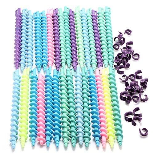 EgBert 25Pcs Coiffure En Plastique Cheveux Spirale Permanente Tige - Long