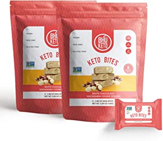 BHU Keto Bites � White Chocolate Macadamia Cookie Dough (2 Bags)