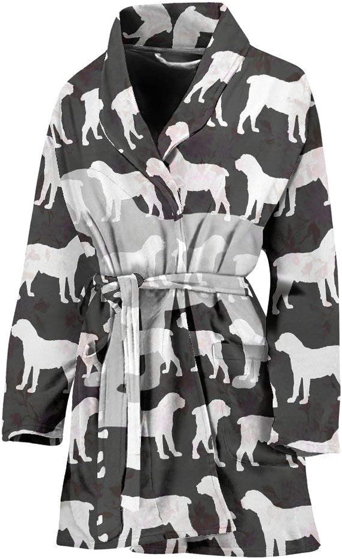 Deruj Boerboel Dog Pattern Print Women's Bath Robe
