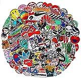 100 PCS Fashion Street Logo Stickers Cartoon Waterproof Stickers Car Laptop Helmet Luggage Vintage Skateboard Wall Decor Gift for Adult