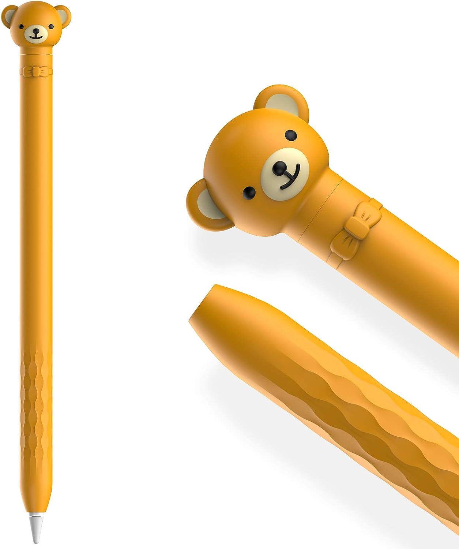 AHASTYLE Funda protectora de silicona suave para Apple Pencil de 1/ª generaci/ón dise/ño de rana verde