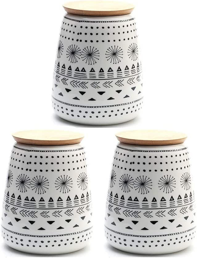 Food Storage Jar OFFer Ceramic mart with Canister Containers Sealed