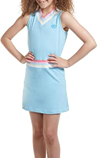 Girl Tennis and Golf Outfit – Sleeveless V Neck Tennis Dress with Shorts