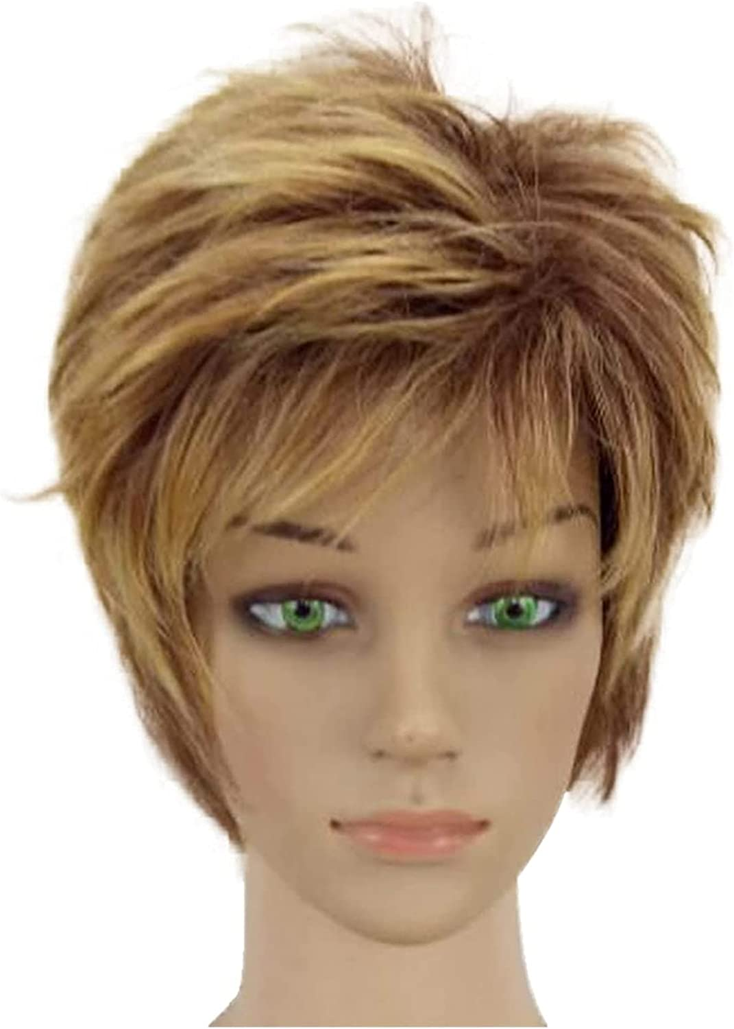 LCNING Wig Wigs Synthetic Hair Blonde Short Max 55% High quality new OFF Woman Light Layered
