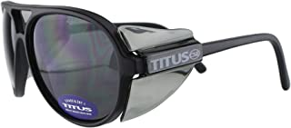 TITUS All-Purpose Safety Glasses with Protective Side Shield (Smoke)