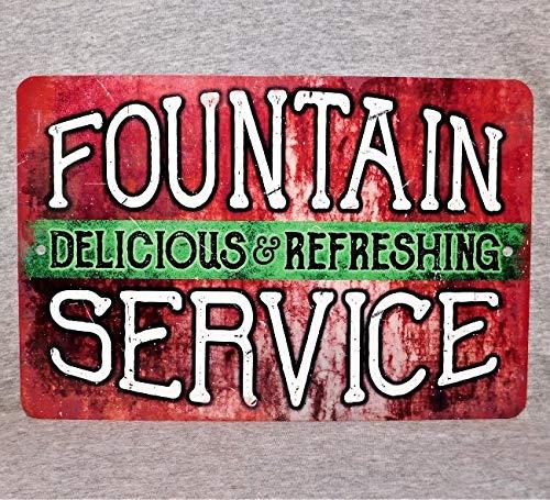 Sp567encer Metal Sign Fountain Service Soda Shop drankijs Cola Soda mout salon pop drankjes verfrissende drank Vintage Aluminium