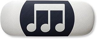 Triple-quaver Music Notes Black Gl Case Eyegl Hard Shell Storage Spectacle Box