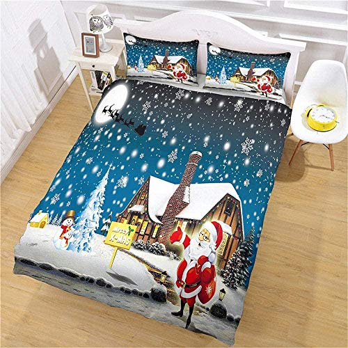 DINGQING Duvet cover pillowcases 3 piece polyester bedding set, for kids Adults, with Zipper, for Bedroom decoration Birthday 78.74 * 78.74in Colorful paint,200x200cm