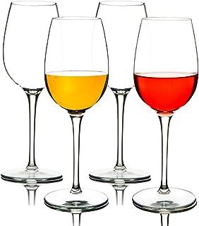 MICHLEY Irrompible Copas de Vino Tinto, 100% Tritan-plástico Copas Vino Cristal, 360 ml BPA y EA Gratis Vaso de Vino Conjunto de 4