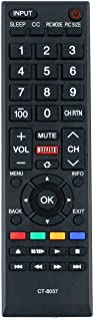 New CT-8037 Replaced REMOTE Compatible with Toshiba LED SMART HDTV 40L3400 40L3400U 58L5400 65L5400 50L3400 40L3400UC 50L3400U 50L3400UC 58L5400U 58L5400UC 65L5400U 65L5400UC (Renewed)