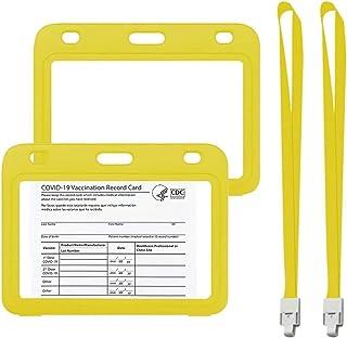4×3インチCDC予防接種カードプロテクター埋め込み式免疫用ワクチン記録カードホルダー防水タイプの再封鎖可能なZipを備えたクリアPPプラスチックスリーブ