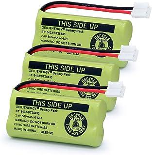 BT18433 BT28433 BT184342 BT284342 BT-1011 Replacement Battery for Vtech Phone CS6209 CS6219 CS6229 DS6151 89-1330-01-00 CPH-515D(Pack of 3)