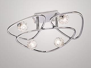 plafoniera design LX 4Â lampade cromo