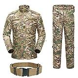 H World Shopping hombres táctico BDU Combat Uniform chaqueta camisa y pantalones traje para ejército militar airsoft paintball caza tiro juego guerra Multicam MC (XL)