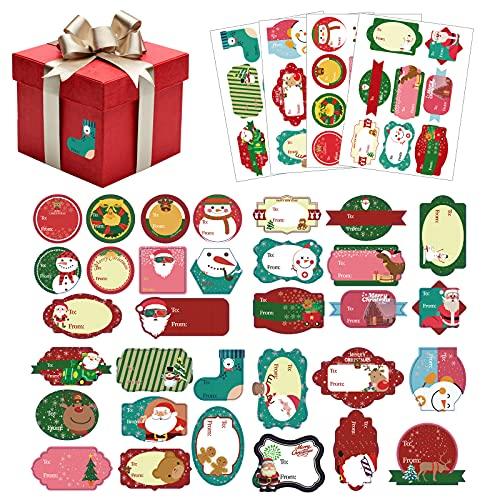 Etiquetas Adhesivas Navidad Nombre Marca Hileyu