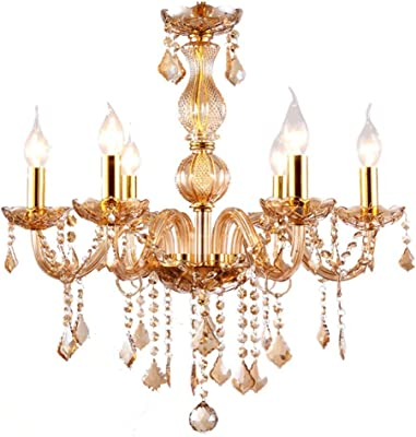 Lampadari Lampade a sospensione a cristallo in stile europeo, lampadari a porta candela, ristorante di lusso Lampadari decorativi a scomparsa a LED Lampadari