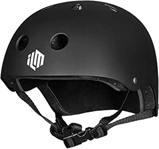 ILM Kids, Youth Adults Skateboard Helmet CPSC Certified Impact Resistance Ventilation for Cycling Skateboarding Scooter Outdoor Sports
