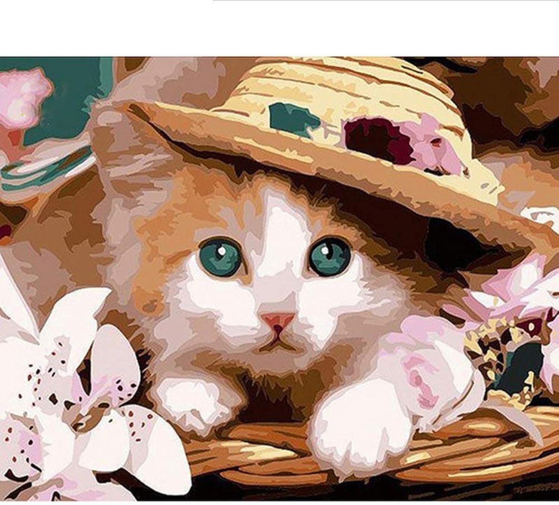Waofe  Diy Rahmen Cartoon Katze Tiere Diy Malen Nach Zahlen Wandkunst Bild Handgemaltes Ölgemälde Einzigartiges Geschenk 4050 B07PR3XM6C | Deutschland Shop