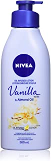 NIVEA Oil-Infused Vanilla & Almond Oil Body Lotion (500mL), Body Cream with Delicate Vanilla Extract, Skin Care Formula wi...