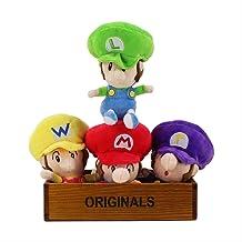 na Mario Bros Peluches Mario Luigi Waluigi Wario Peluche Bebé Muñeca Rellena Suave Juguetes para Niños Regalos 17cm 19.56