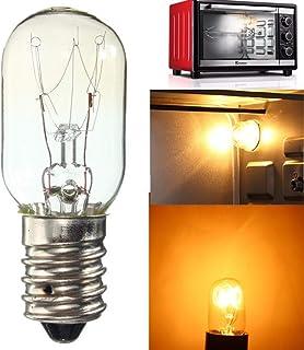 Mobestech - Bombilla de horno de microondas E14, 25 W, bombillas del frigorífico del horno del aparato para horno, encimera y frigorífico (3 unidades, blanco cálido)