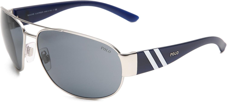 Polo Ralph Lauren Men's Ph3052 Metal Sunglasses
