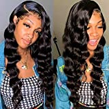 360 Lace Frontal Wigs with Baby Hair Pre Plucked Loose Deep Wave Human Hair Wigs for Black Women Full 360 Lace Wigs Human Hair Natural Color 150% Density(26, 360 Loose Deep)
